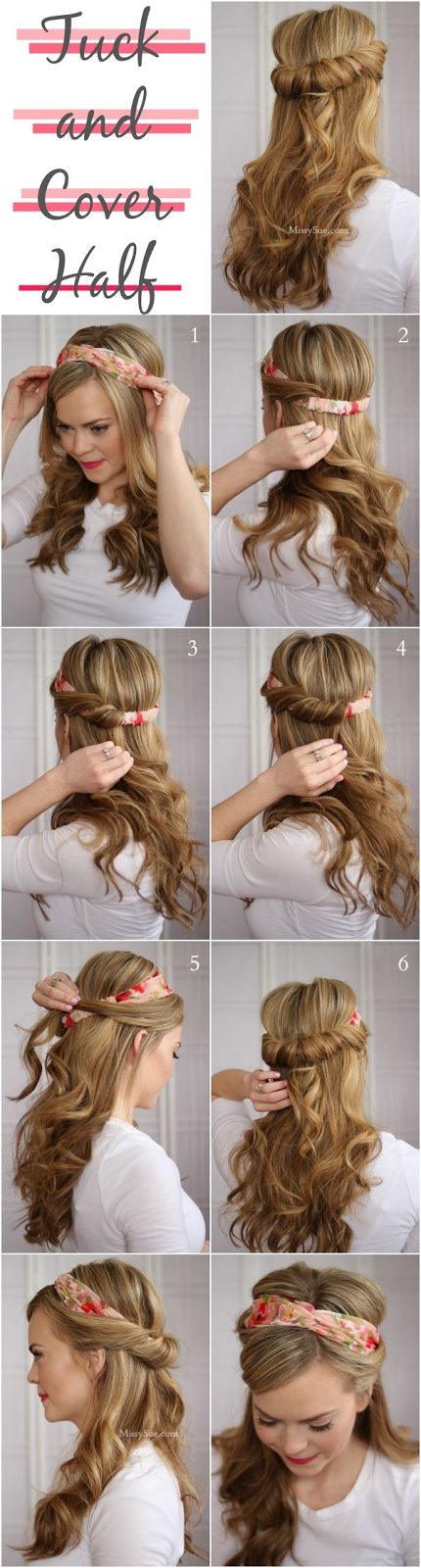 Tuck and Cover Hair Tutorial
