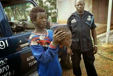 A Man Caught With A Little Boy's Head In Ghana