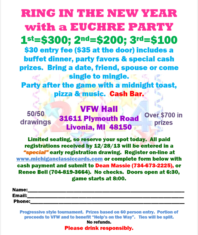 Euchre New Years Eve Party