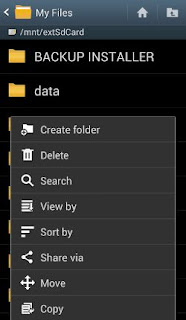 hide folder on android