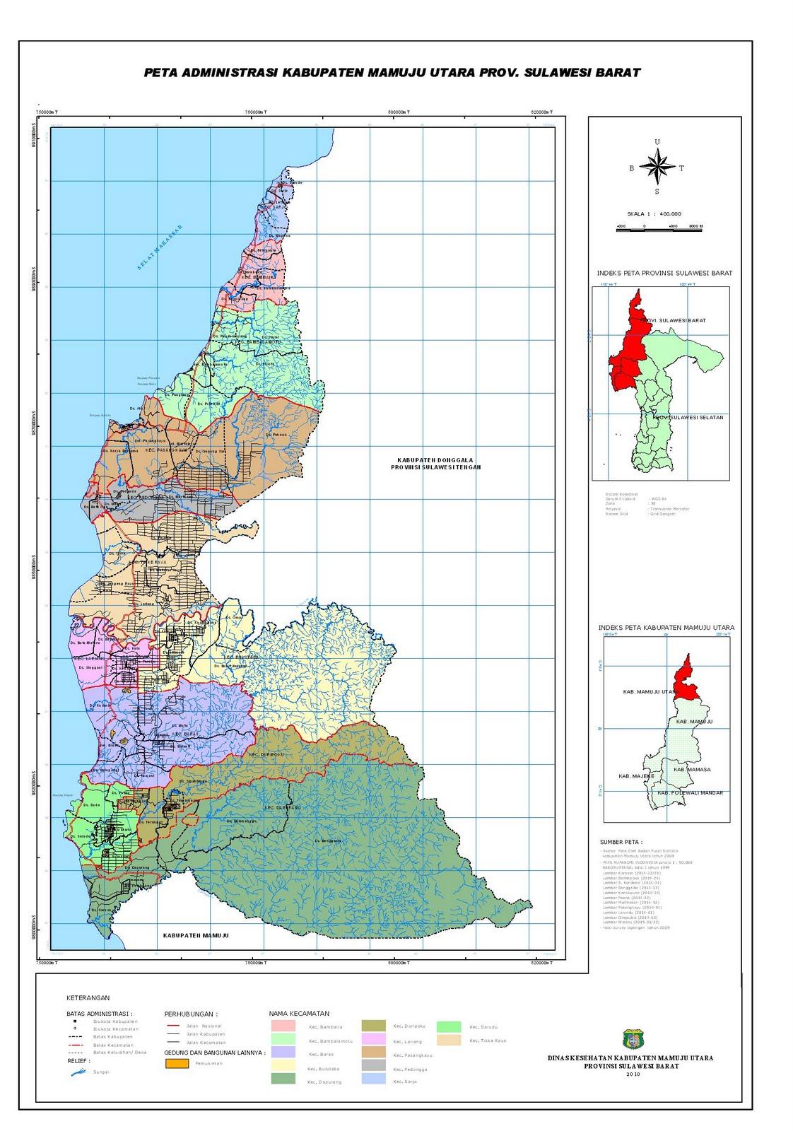 Peta Kota: Peta Kabupaten Mamuju Utara
