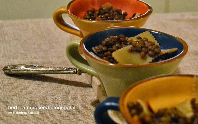 la minestra di lenticchie speziata e....raptus!