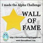 Craft Barn Alpha/Dictionary Challenge