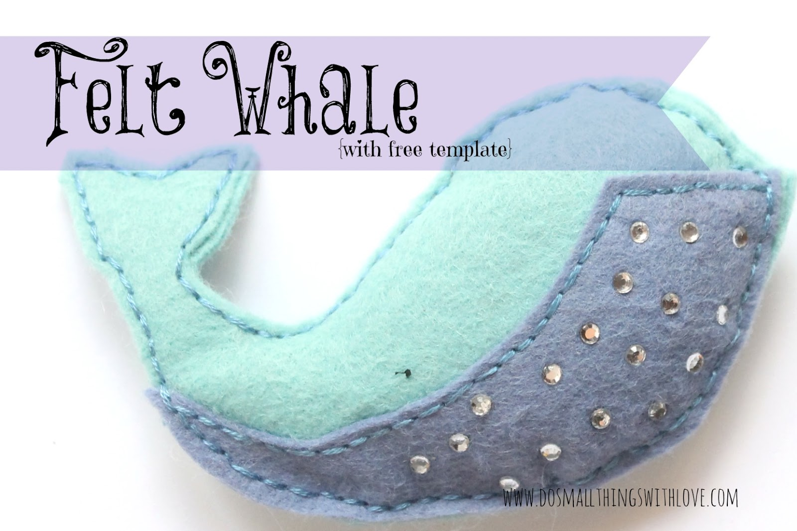 felt whale with free template catholic sprouts