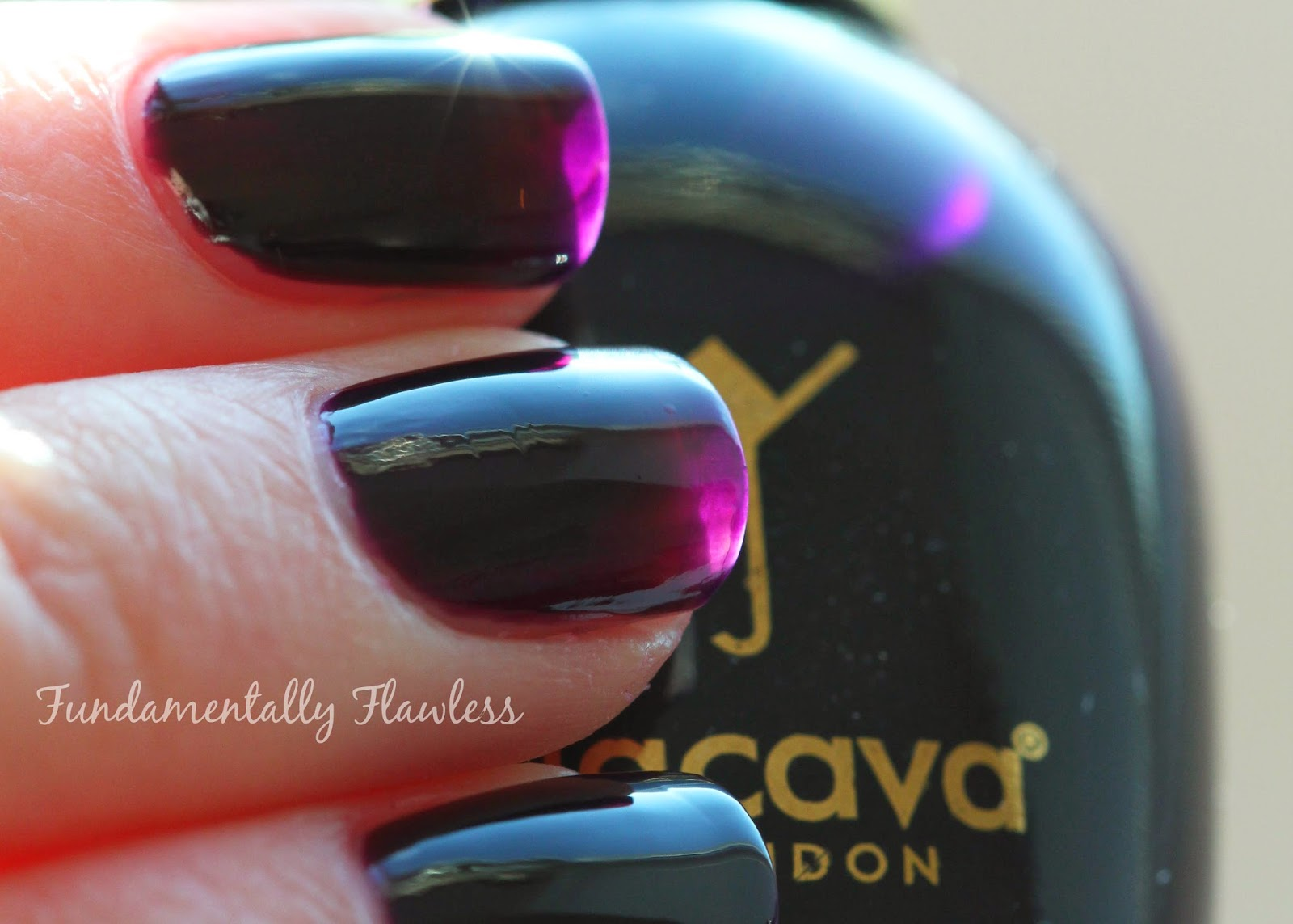 Jacava London Blackcurrant Vamp swatch