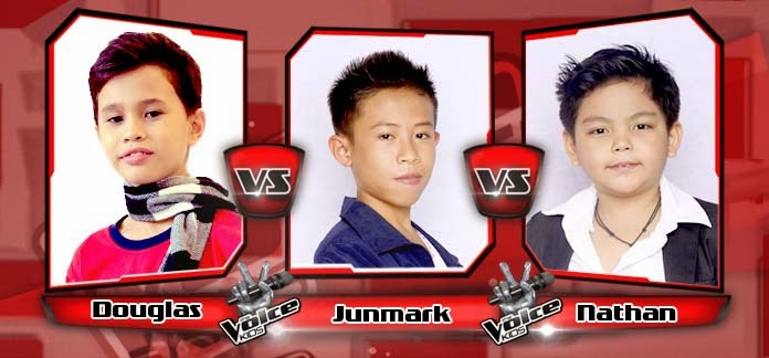 Battle Round between Douglas Alabe, Junmark Amercin and Nathan Bautista on The Voice Kids Philippines Team Bamboo Battle Rounds