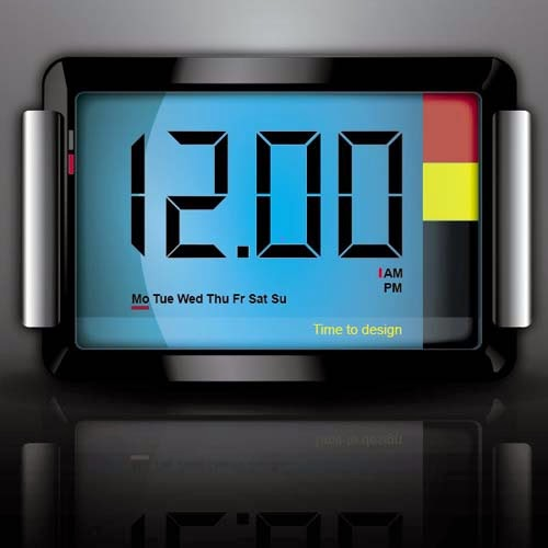 3D Digital Clock Icon