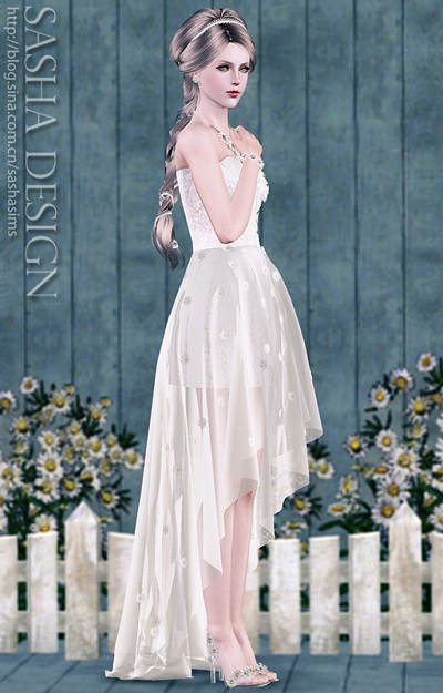 My Sims 3 Blog: New Wedding Dress, Glass Slippers and Accessories by