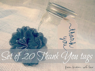 Current Crush {Set of 20 thank you tags GIVEAWAY}