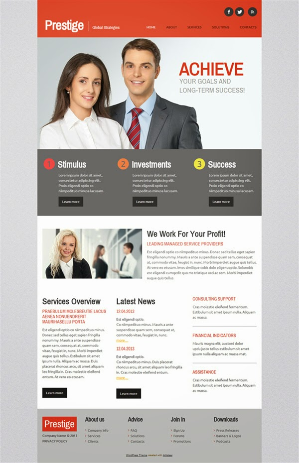 Prestige - Free Wordpress Theme