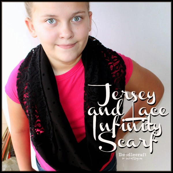 http://www.doodlecraftblog.com/2014/12/jersey-and-lace-infinity-scarf.html