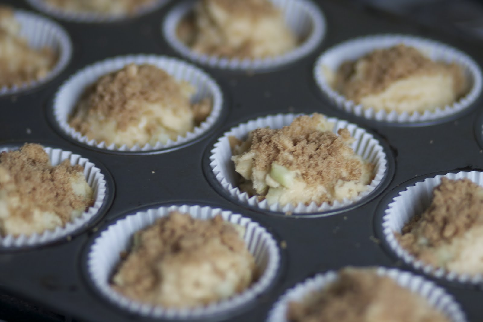 Apple-Cinnamon Crumble Muffins