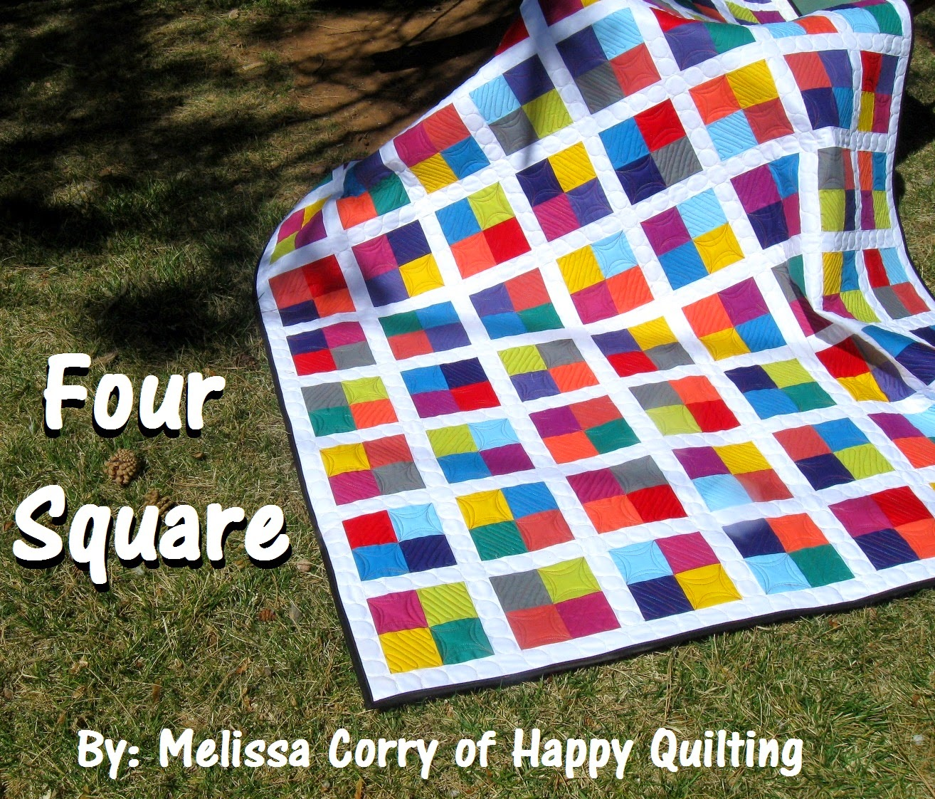 Happy Quilting: Four Square - A Tutorial and Giveaway : square quilt - Adamdwight.com