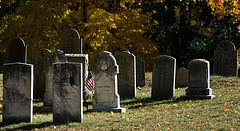 Old Graveyard in East Douglas, MA by wickenden via Flickr and a Creative Commons license