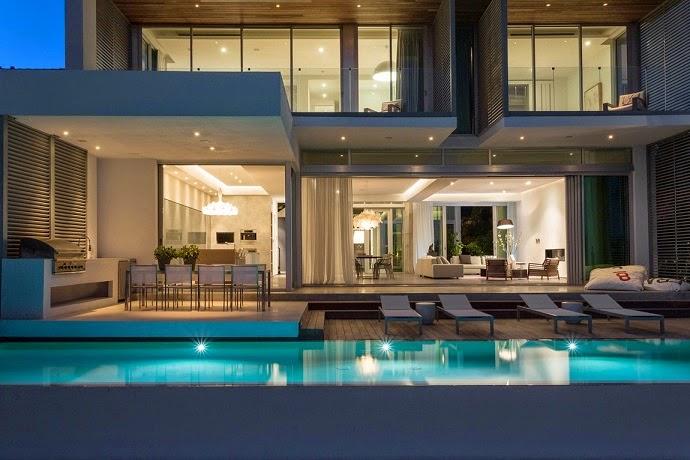 Casas De Decoracion En Miami ~   madera brasile?a ipe con persianas de aluminio el vidrio utilizado en