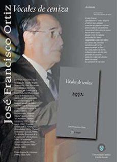 """Pendón de presentación del libro """"Vocales de Ceniza"""", 2005"""