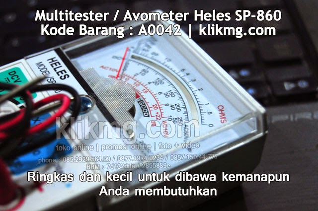 Multitester / Avometer Heles SP-860 - Kode Barang : A0042 | Ringkas dan kecil untuk dibawa kemanapun Anda membutuhkan