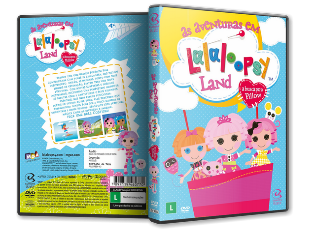 Capa DVD As Aventuras Em Lalaloopsy Land
