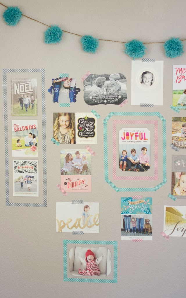 Holiday Card Display And Minted Giveaway Design Improvised