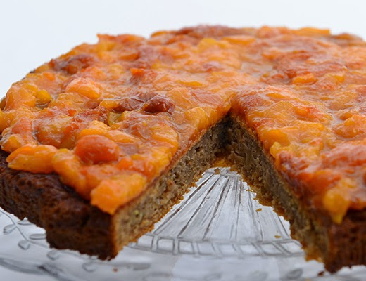 Ginger Cake with Apricot Sticky Sauce