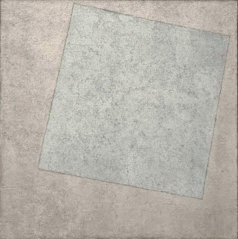 Cuadrado blanco sobre fondo blanco. Kazimir Malevich, 1918
