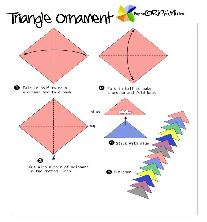 star festivel origami triangle ornament paper origami guide