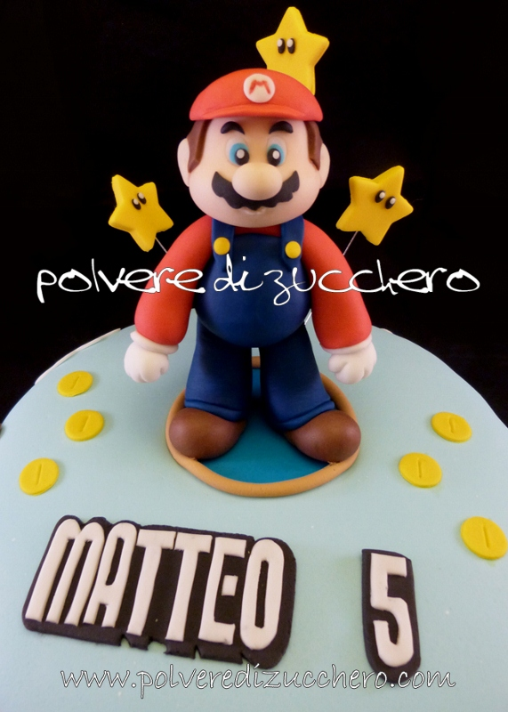 Torta Super Mario Bros In Pasta Di Zucchero Polvere Di