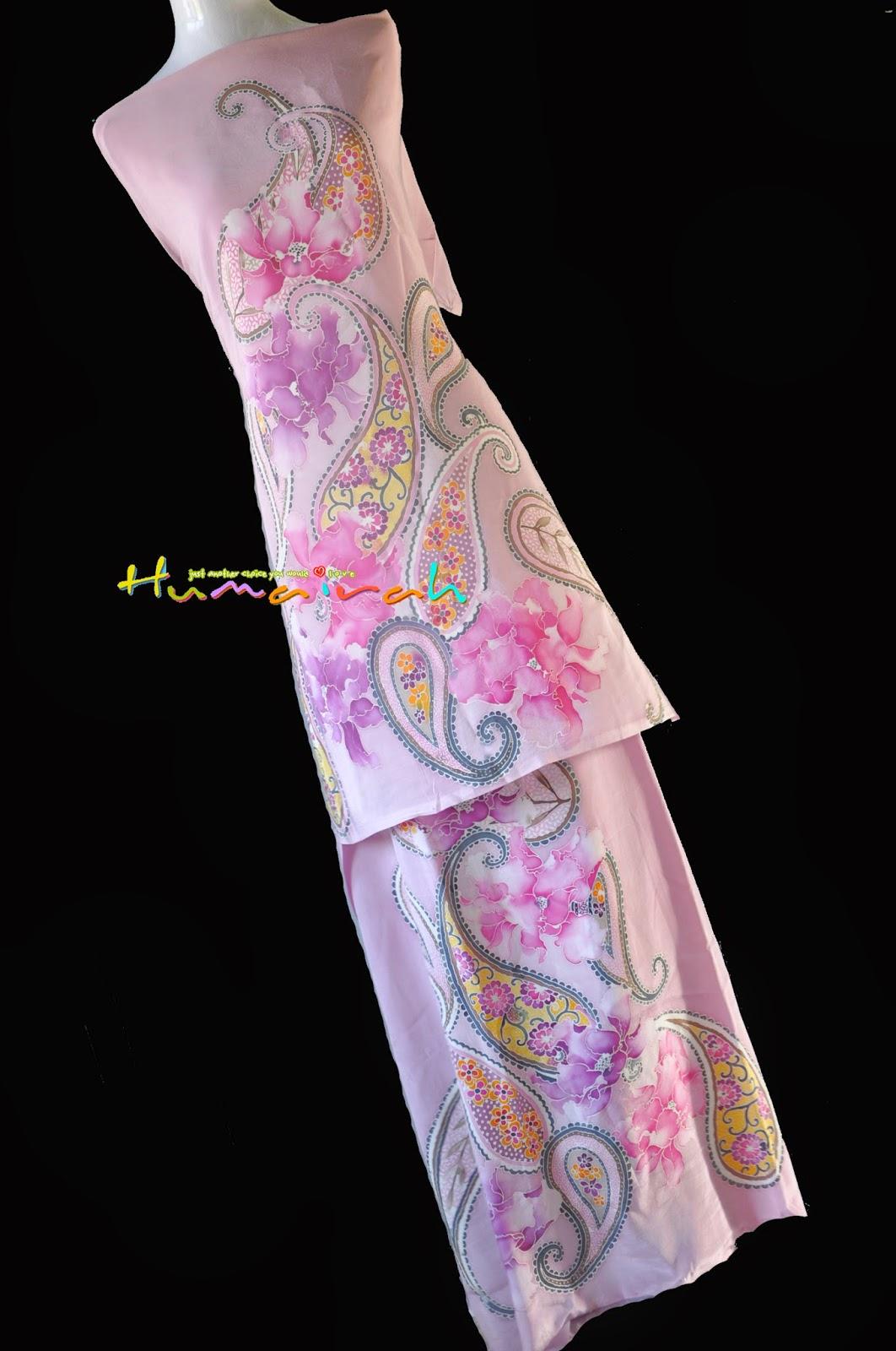 CX85 Batik Sutera Exclusive - Pink Lembut Paisley Handmade 1