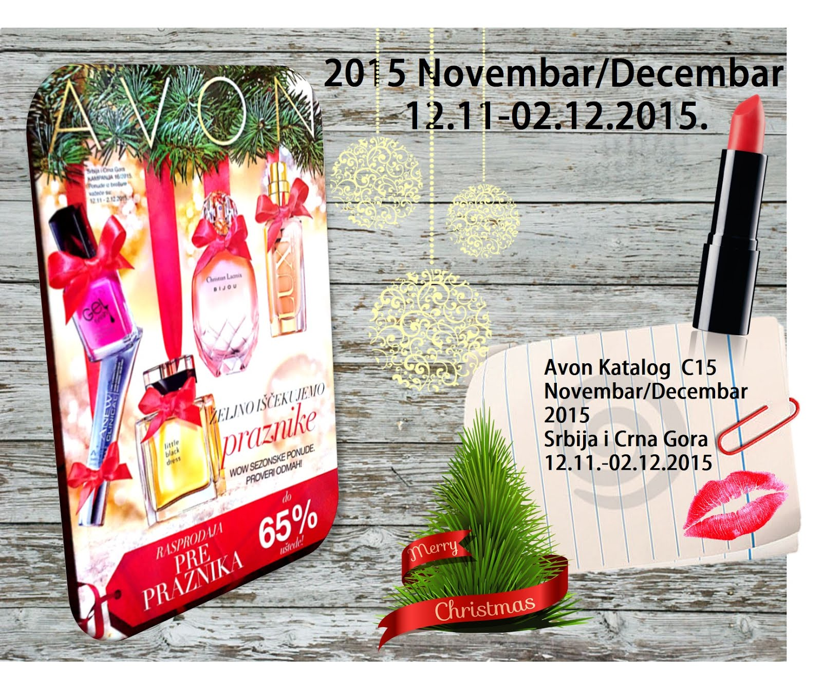 Avon Katalog  C15 Novembar/Decembar 2015 Srbija i Crna Gora 12.11.-02.12.2015