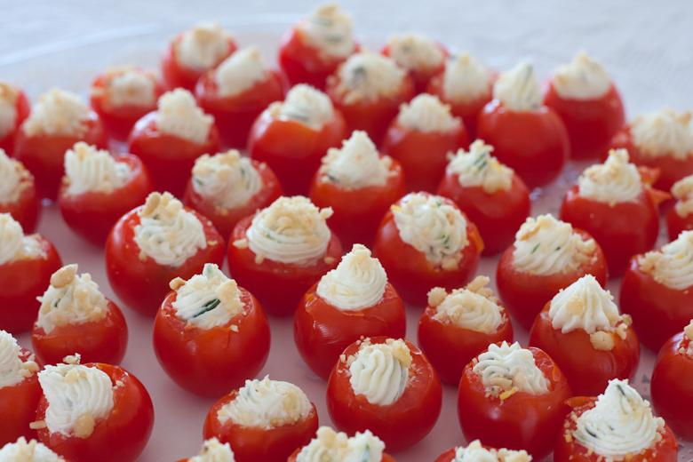 Herbed Goat Cheese Stuffed Cherry Tomatoes
