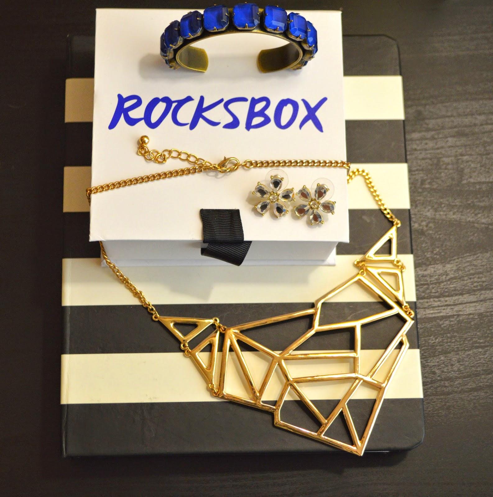 rocksbox, geometric, gold, kate spade, flower