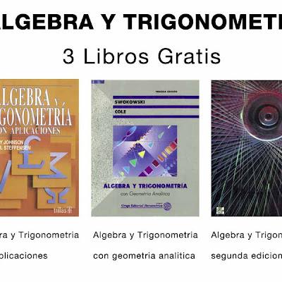 Tres libros de Algebra y Trigonometria | Matematicas
