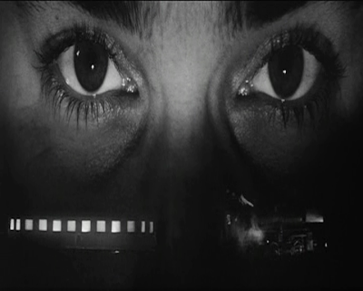 An Optically Modified Sequence of the Train passing in front of the eyes from Europa, Directed by Lars von Trier