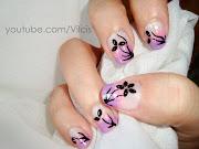 Diseño de uñas elegante: degradado morado y rosa, flor (dsc copia)
