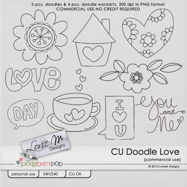 CU Doodle Love (Free Colored Doodles)