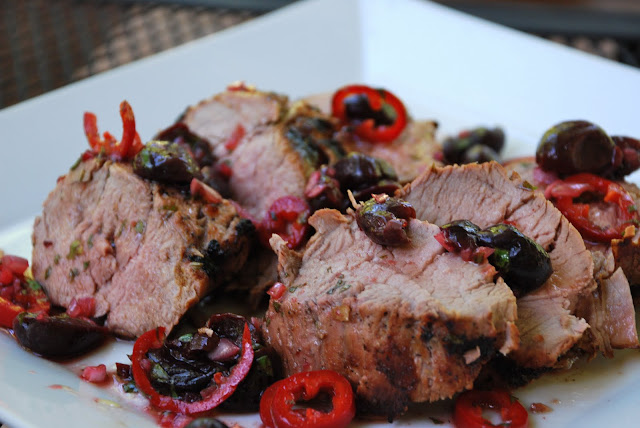 Tomatoes on the Vine: Grilled Pork Tenderloin with Cherry Salsa