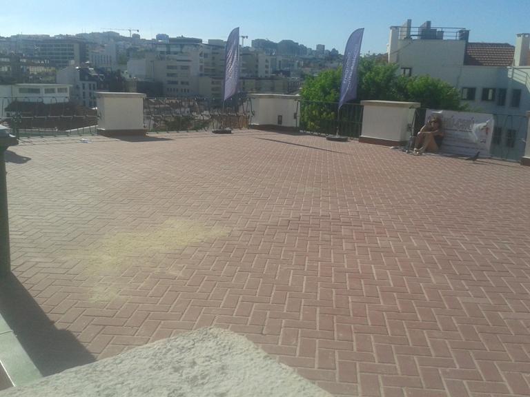 Zona de Sol sem areia