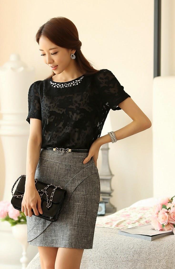 Moda korean clothes and korean fashion on pinterest - Modelos de faldas de moda ...