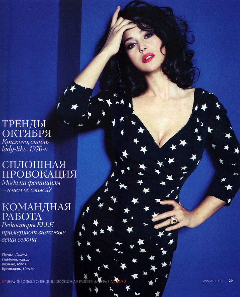 Monica Bellucci Photoshoot for by John Nollet ELLE Russia October 2011