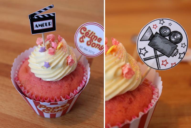 cupcake rose et topping creme au beurre