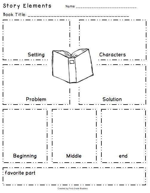 Workshop Wednesday  Reading OrganizersStory Elements Graphic Organizer 4th Grade