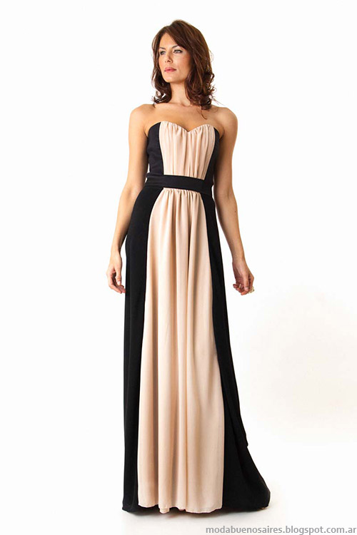Moda vestidos de fiesta largos veran 2015 Veronica Far.