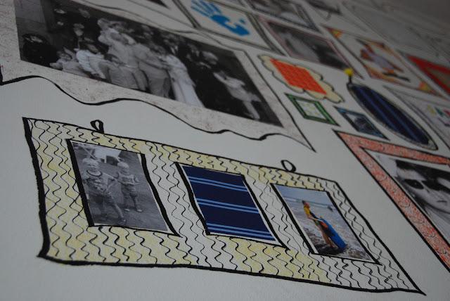marker frames on wall in kids room