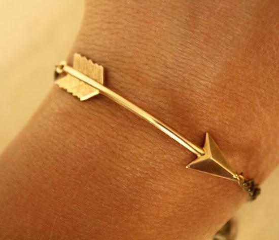 Golden arrow bracelet for women