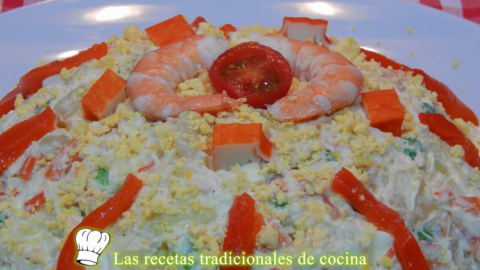 Cocina Rusa Recetas | Receta Facil De Ensaladilla Rusa Con Marisco Recetas De Cocina