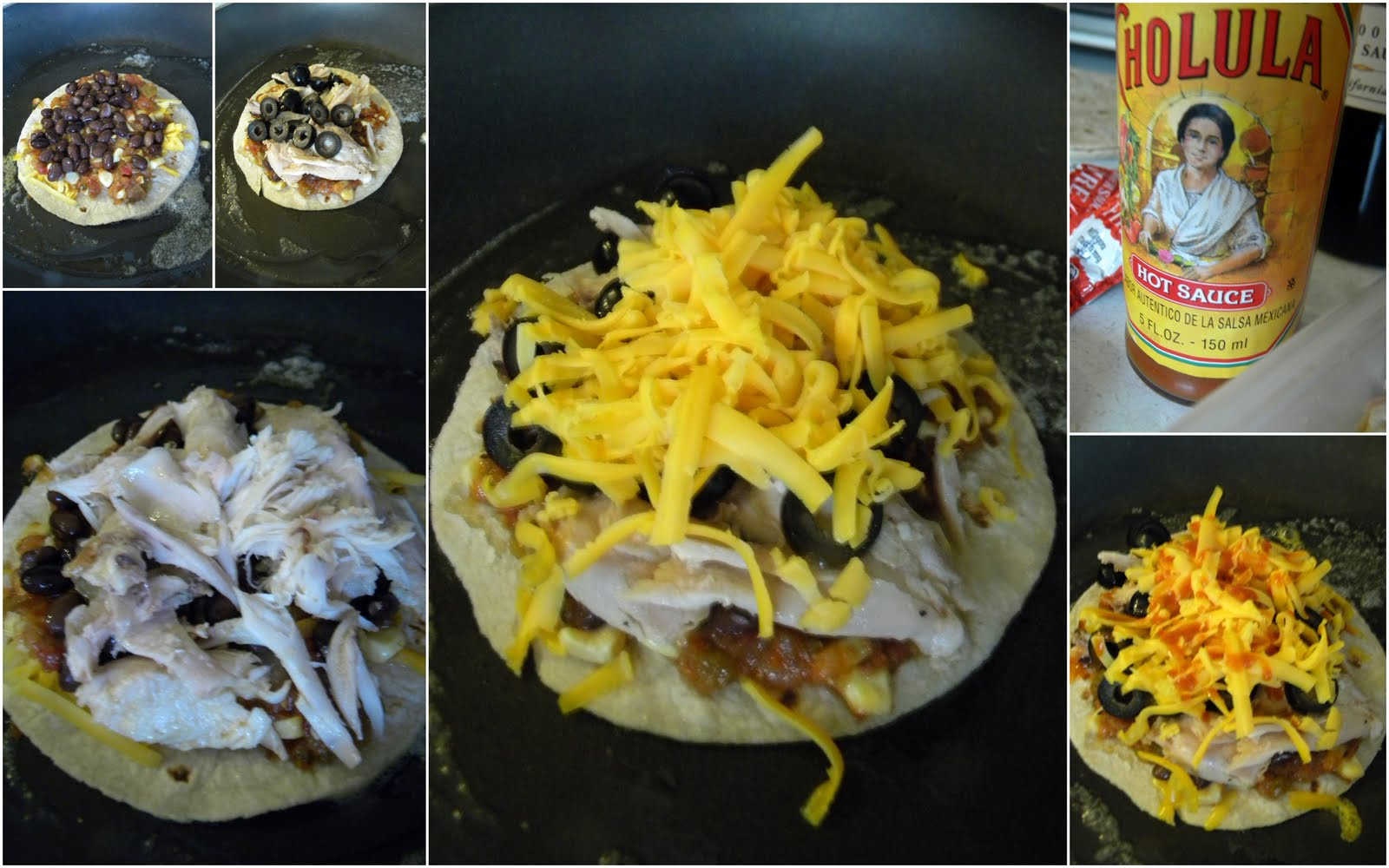 Hot Mess Cooking: Chicken and Black Bean Quesadillas