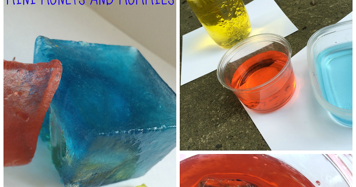 Mini monets and mommies frozen color mixing abstract art - What temperature is too cold to paint outside ...