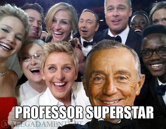 Selfy da noite dos Óscar com Marcelo Rebelo de Sousa – Professor Starlet