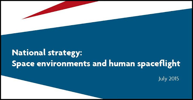 "The front cover of the ""National Strategy for Space Environments and Human Spaceflight"". Credit: UK Space Agency"