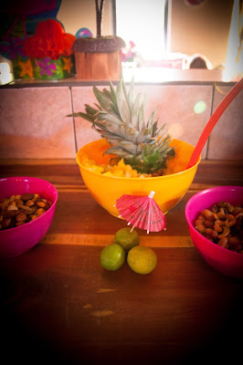 Key limes are a cheap decoration for a Luau Party - True Blue Style Event Planning